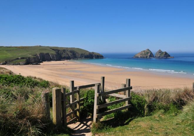 Image result for Holywell Bay Beach