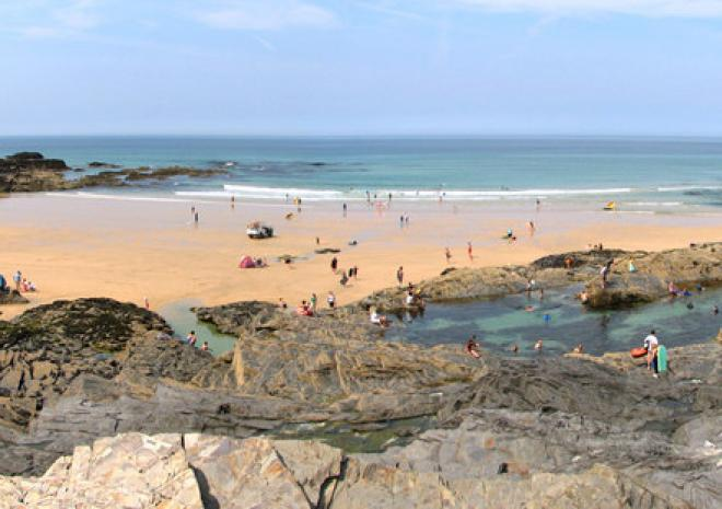 Image result for treyarnon bay beach