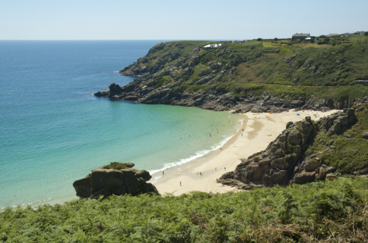 Best Sea Views In Cornwall Porthcurno Beach